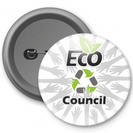 Eco Council Customisable Button Badge