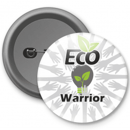 Eco Warrior Customisable Button Badge