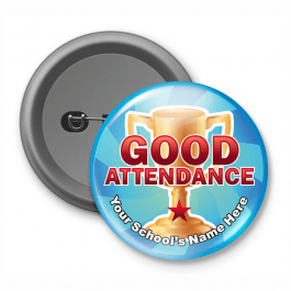 Good Attendance - Customised Button Badge