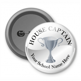 House Captain - Customized Button Badge