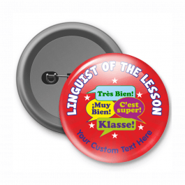 Linguist of the Lesson Customised Button Badge