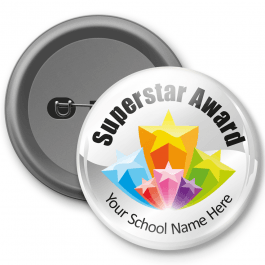 Superstar Award - Customised Button Badge