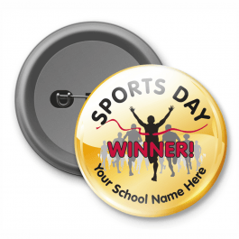 Sports Day Winner - Customised Button Badge