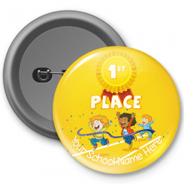 Sports Day 1st place Celebration Customisable Button Badge