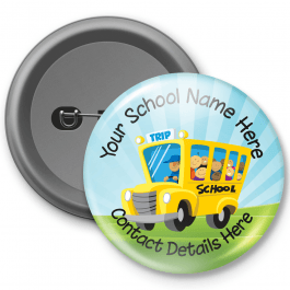 School Trip - Customised Button Badge