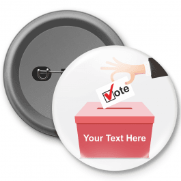 Vote for.... Customisable Button Badge