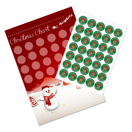 A3 Christmas Reward Chart and 35 Matching Stickers