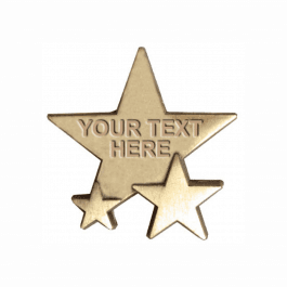 Personalised Triple Star badges