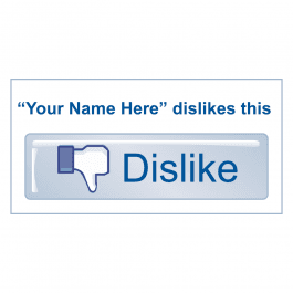 An image of Customised Dislike Stickers Medium Pack