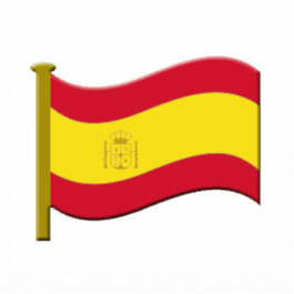 An image of Lapel Badge - Spanish Flag