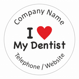 An image of I love My Dentist Stickers - Large Pack