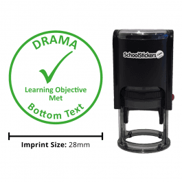 Drama Stamper - Learning Objective Met