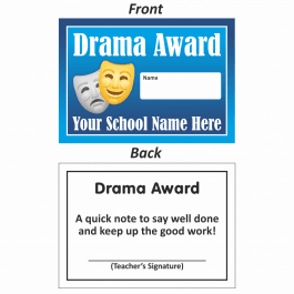 Drama Mini Award Slips Design 2
