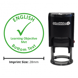 English Stamper - Learning Objective Met