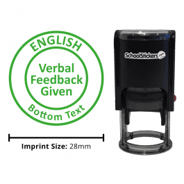 English Stamper - Verbal Feedback Given