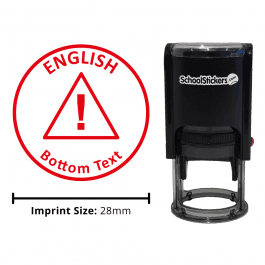 English Stamper - Warning Triangle