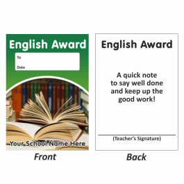 English Mini Award Slips Design 1