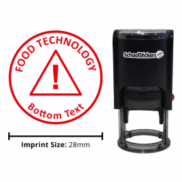 Food Technology Stamper - Warning Triangle