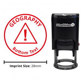 Geography Stamper - Warning Triangle