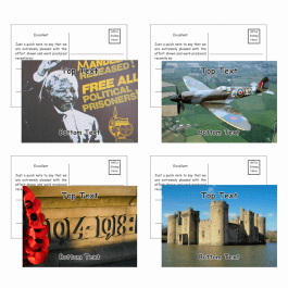 History Postcards - Pack 3 - Message B