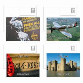History Postcards - Pack 4 - Blank
