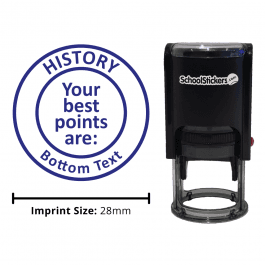 Personalized History Grading Stamp - Your Best Points Are