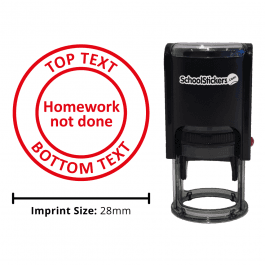 Personalized Grading Stamp - Homework Not Done