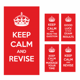 Keep Calm Exam Stickers