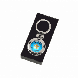 Personalised Keyring - Blue Star Design