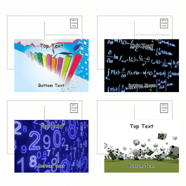 Maths Postcards - Pack 4 - Blank