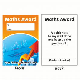 Maths Mini Award Slip Design 1