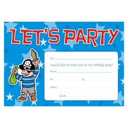 An image of Pirate Birthday Party Invitations