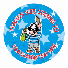 Personalized Pirate Thank You Stickers