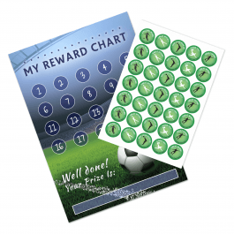 A3 Football Reward Chart and 35 Matching Stickers