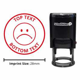 Personalized Grading Stamp - Sad Face