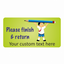 Finish and Return School Boy Stickers
