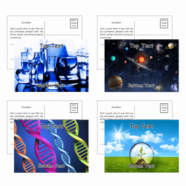Science Postcards - Pack 3 - Message B
