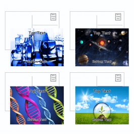 Science Postcards - Pack 4 - Blank