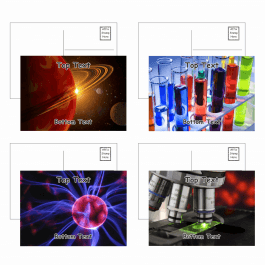 Science Postcards - Pack 2 - Blank