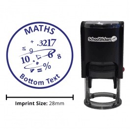 Math Numbers Stamp - Blue