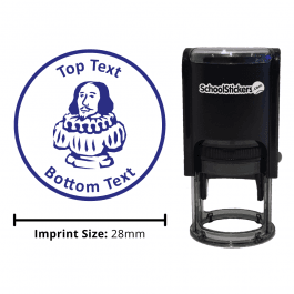 English Shakespeare Stamp - Blue