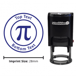 Maths Pi Stamp - Blue
