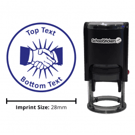 Business Studies Handshake Stamp - Blue