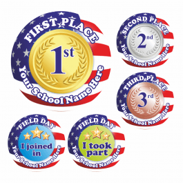Field Day Award Stickers- US Flag