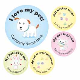 An image of I love My Pet Stickers - Colourful - Large Pack