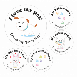I love My Pet Stickers - White