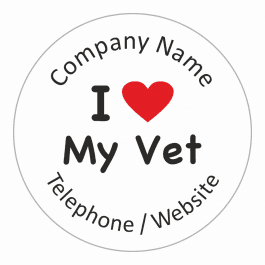 An image of I love My Vet Stickers - Large Pack