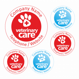 An image of Veterinary Care Stickers - Large Pack