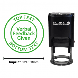 Personalized Grading Stamp - Verbal Feedback Given
