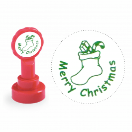 Xclamation Merry Christmas Stocking Stamp